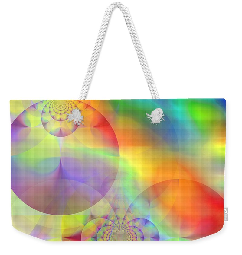 Abstract Weekender Tote Bag featuring the digital art Mind Over Matter by Ruth Palmer