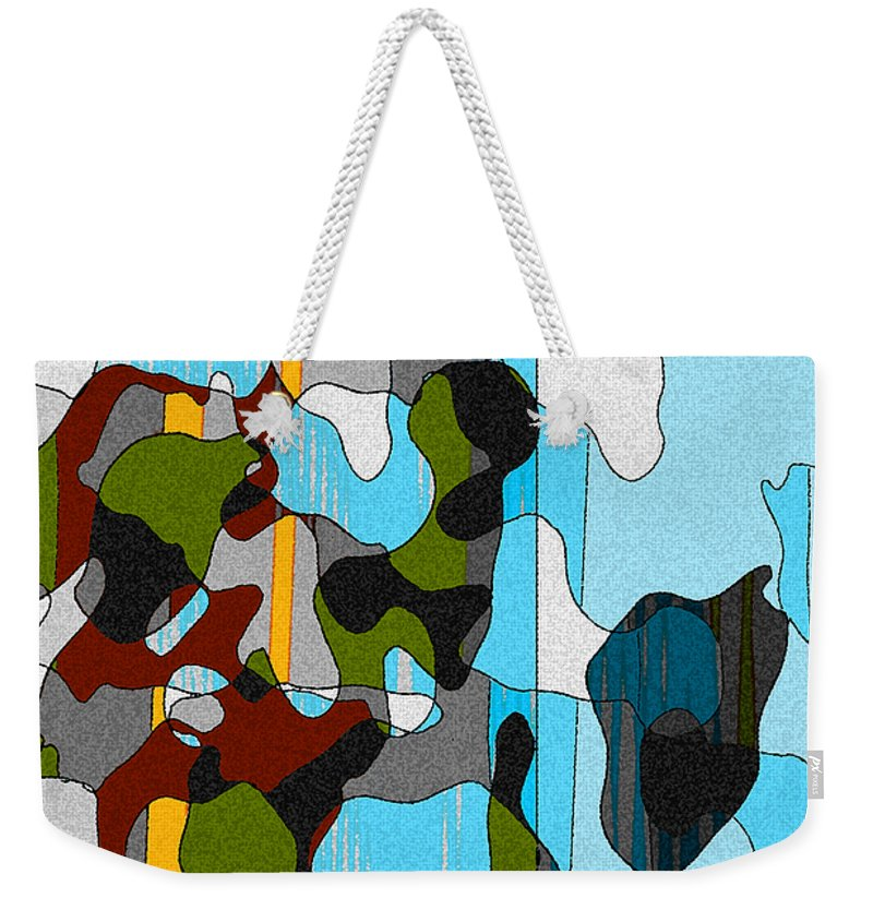 Abstract Weekender Tote Bag featuring the mixed media Puddlesponge by Ruth Palmer