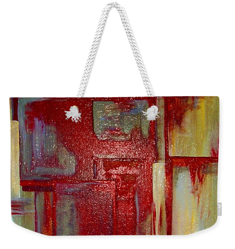 Abstract Weekender Tote Bag featuring the digital art Sections Revisited by Ruth Palmer