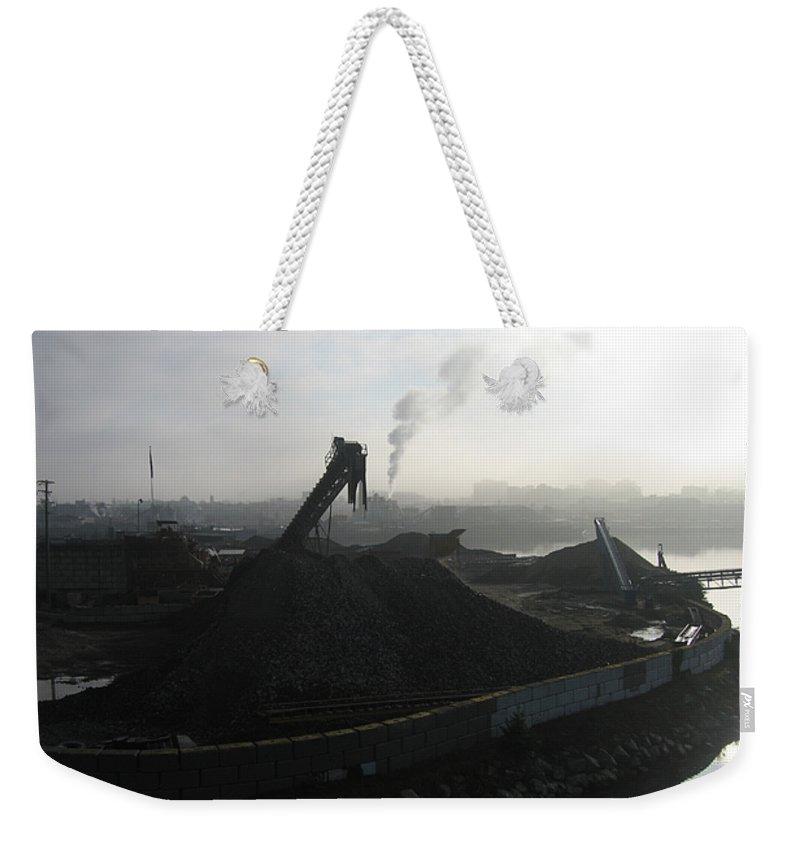 Photograph Ship Yard Ocean Water Victoria Weekender Tote Bag featuring the photograph Shipyard by Seon-Jeong Kim