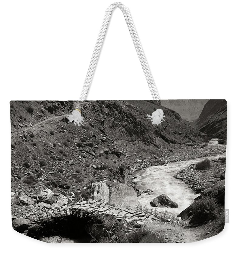 Active Weekender Tote Bag featuring the photograph The Crossing by Konstantin Dikovsky