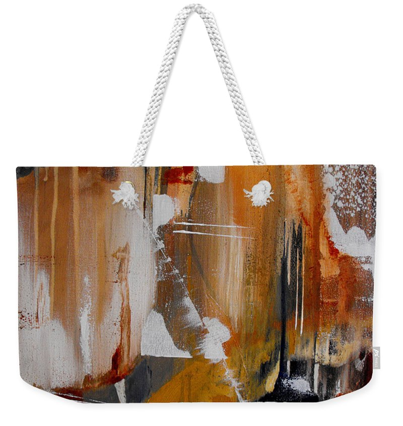 Abstract Weekender Tote Bag featuring the painting Turbulent Times II by Ruth Palmer