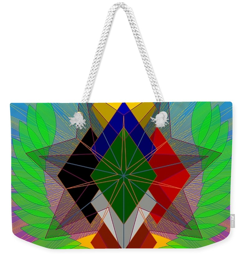 Digital Weekender Tote Bag featuring the digital art We N' De Ya Ho 2012 by Kathryn Strick