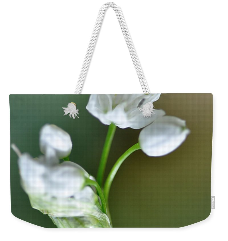 Lachish Weekender Tote Bag featuring the photograph White Blossom 3 by Dubi Roman