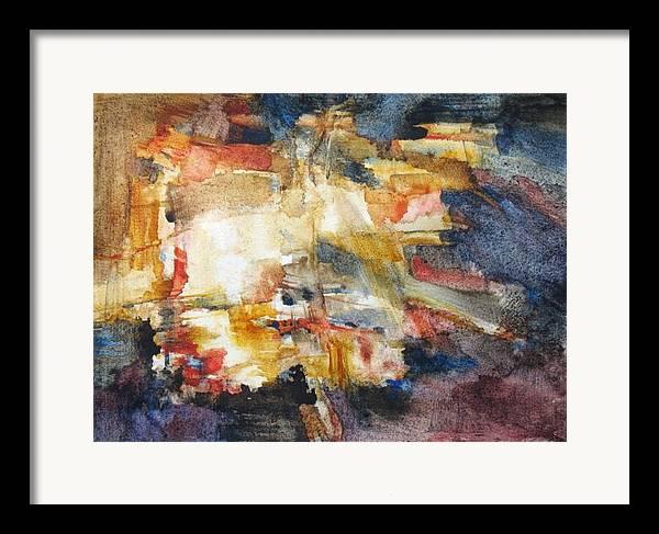 Abstract Framed Print featuring the painting Illumination by Juanita Hagberg