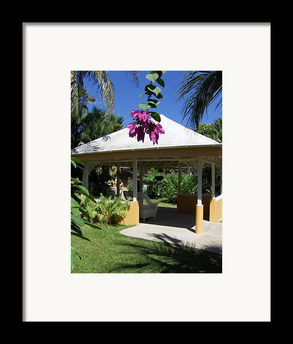 Gazebo Framed Print featuring the photograph Tranquility by J Andrel