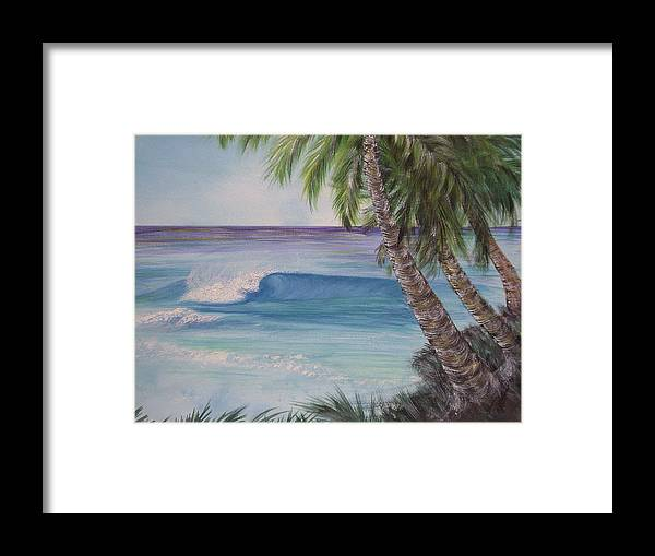 Winter Surf Framed Print featuring the painting So Fine by Laura Johnson