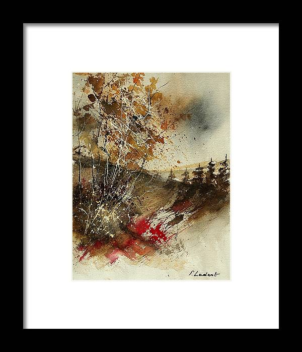 Tree Framed Print featuring the painting Watercolor 903052 by Pol Ledent