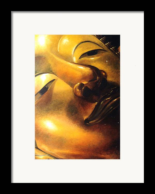 Oil Framed Print featuring the painting Virtue by Chonkhet Phanwichien