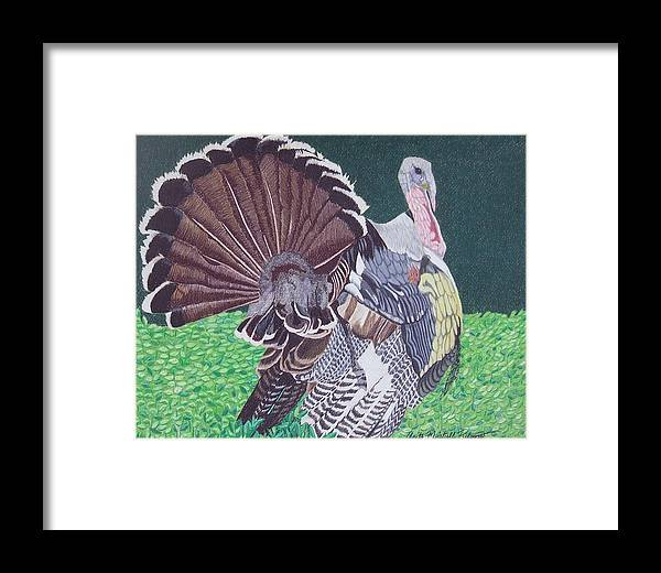 Turkey Framed Print featuring the painting All Dressed Up by Anita Putman
