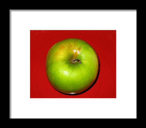 Apple Framed Print featuring the photograph Apple by Jessica Wakefield