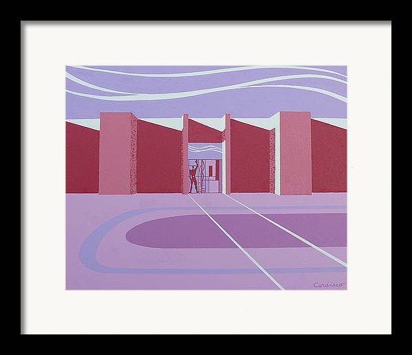 Architectural Framed Print featuring the painting Architectural Le Modulor by James Cordasco