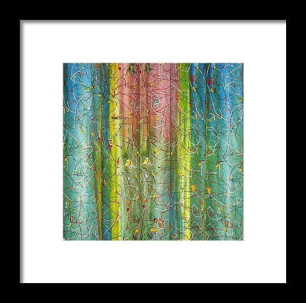 Art Framed Print featuring the painting Art Fusing by Svetlana Vinokurtsev