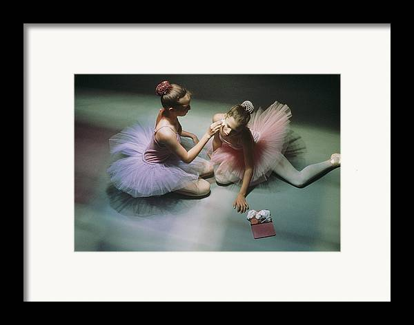 Color Image Framed Print featuring the photograph Ballerinas Get Ready For A Performance by Richard Nowitz