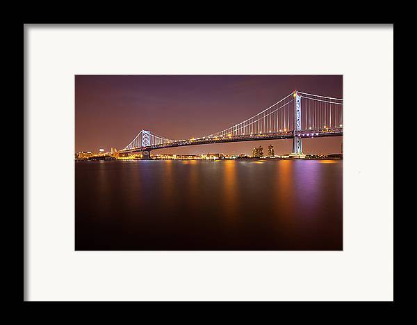 Horizontal Framed Print featuring the photograph Ben Franklin Bridge by Richard Williams Photography