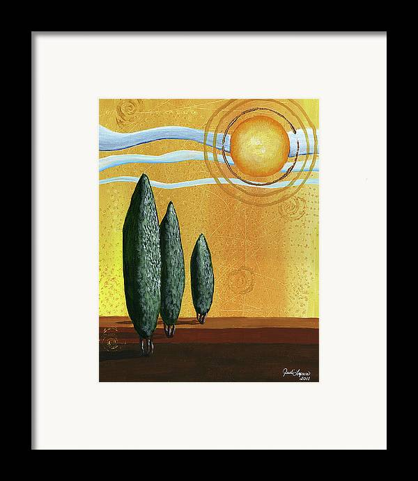 Acrylic Canvas Framed Print featuring the painting Better Days by The Art Of JudiLynn