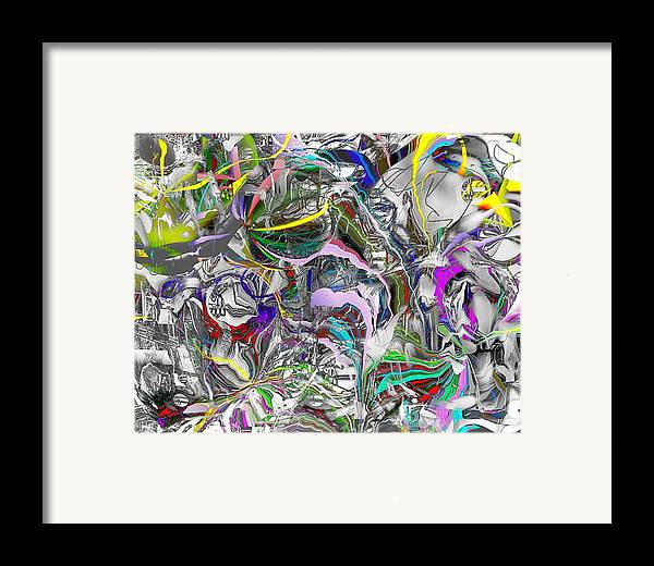 Abstract Framed Print featuring the digital art Big Wire by Dave Kwinter
