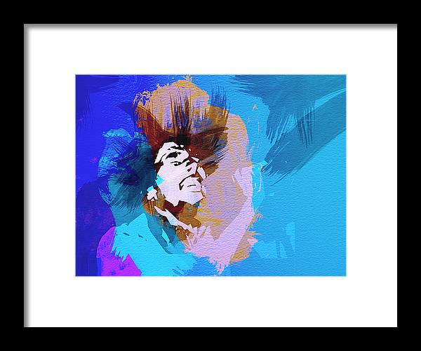 Bob Marley Framed Print featuring the painting Bob Marley 3 by Naxart Studio