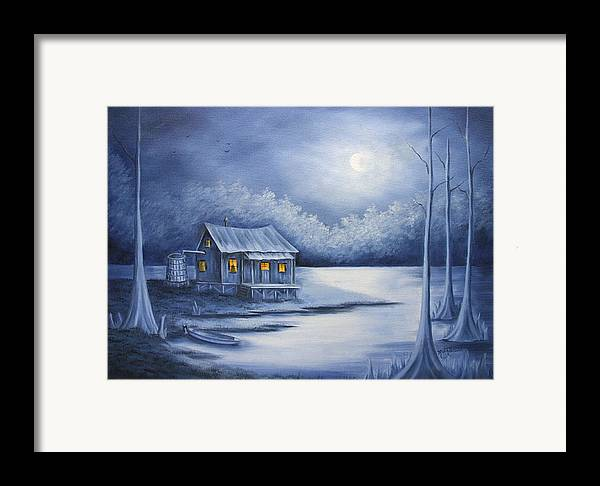 Seascape Framed Print featuring the painting Cajun Christmas by Ruth Bares