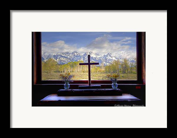Chapel Framed Print featuring the photograph Chapel With A View by Charles Warren