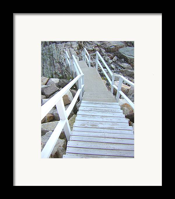 Cliff House Framed Print featuring the photograph Cliff House Stairs by Heather Weikel