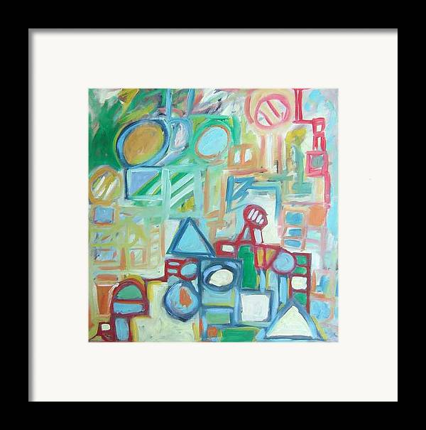 Abstract Framed Print featuring the painting Composition No 4 by Michael Henderson
