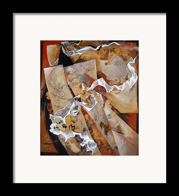 Contemporary Framed Print featuring the painting Crossover by Dale Witherow