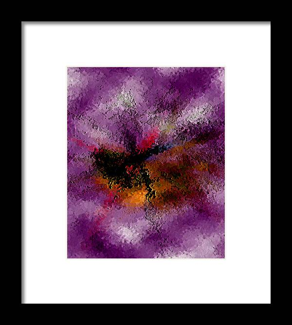 Abstract Framed Print featuring the digital art Damaged But Not Broken by Ruth Palmer