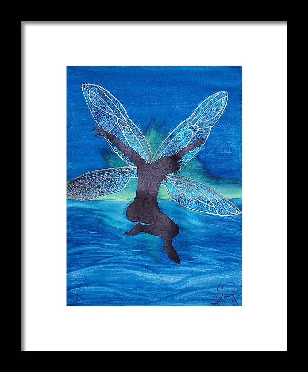 Fairy Framed Print featuring the painting Elation by Amy Lauren Gettys