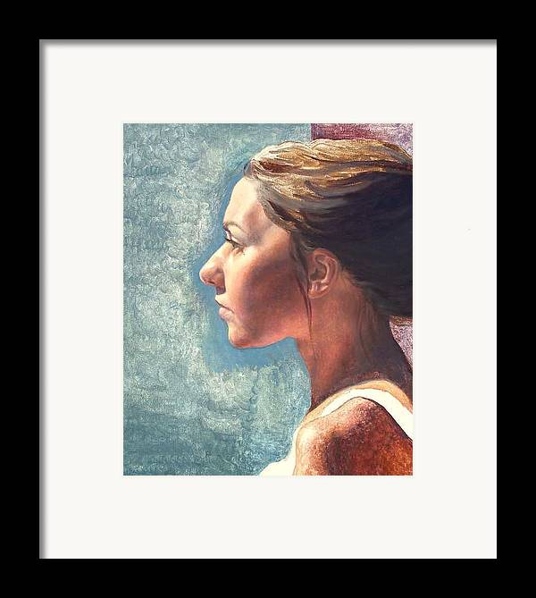 Portrait Framed Print featuring the painting Fresh Pose by Deborah Allison