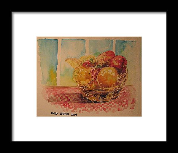 Fruit Framed Print featuring the painting Fruitbasket by Larry Whitler