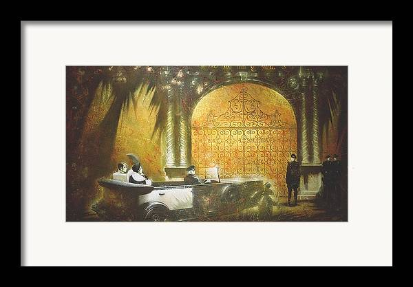 Figures Framed Print featuring the painting Gate To Hollywood by Andrej Vystropov