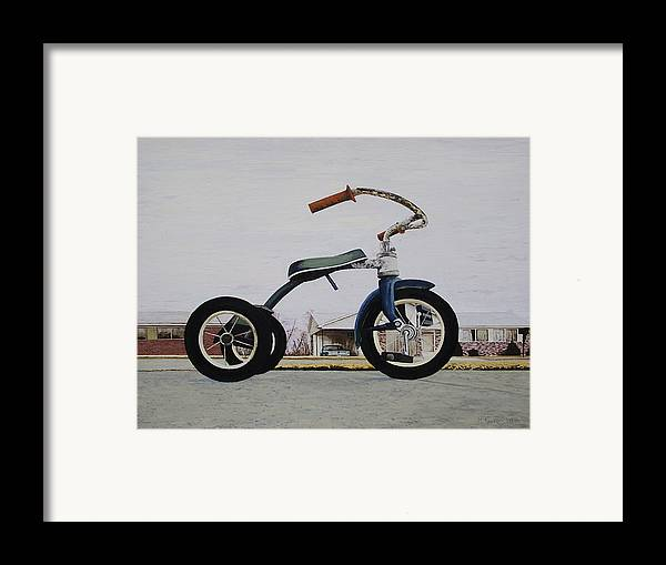 Tricycle Framed Print featuring the painting Geare by Nate