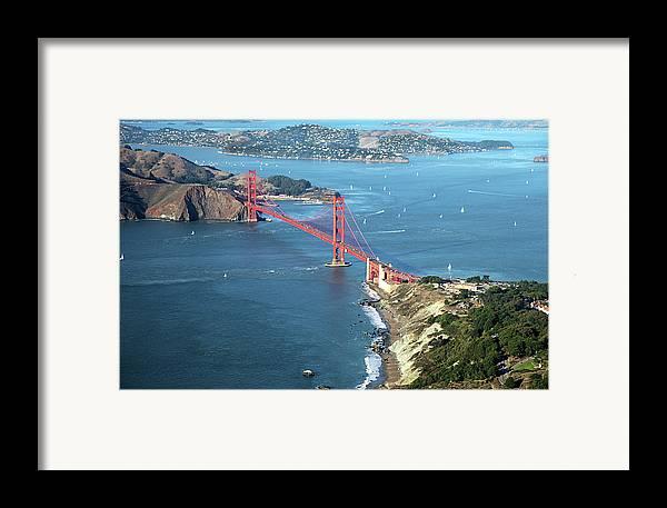 Horizontal Framed Print featuring the photograph Golden Gate Bridge by Stickney Design