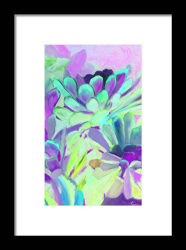 Green Framed Print featuring the painting Green 8 by John Busuttil Leaver