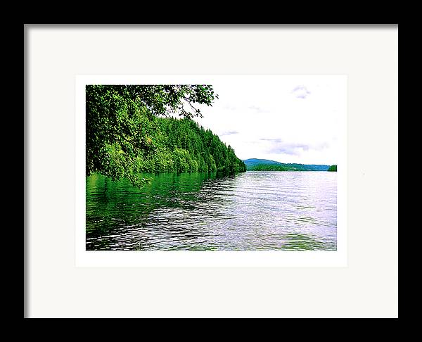 Lake Framed Print featuring the photograph Green Lake by J D Banks