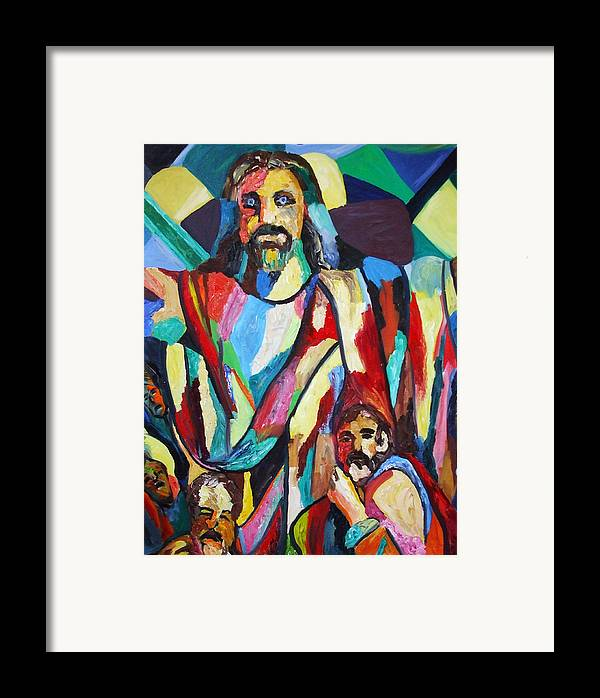 Colors Framed Print featuring the painting He Lives by Angela Green