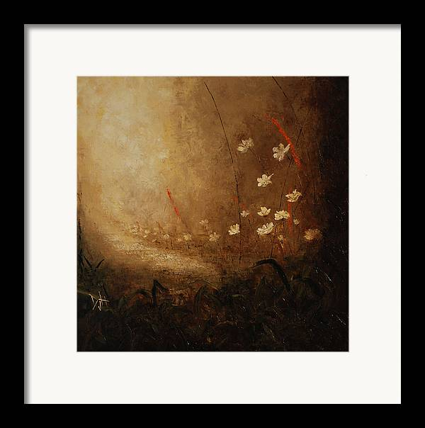 Path Framed Print featuring the painting Hidden Path by Debra Houston