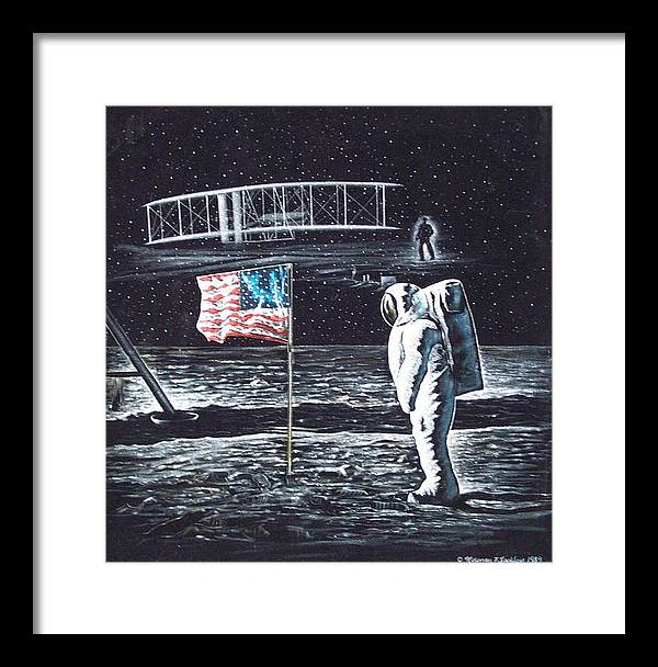 Powered Flight Framed Print featuring the painting If They Only Knew by Norman F Jackson
