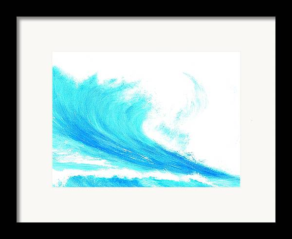 Surf Framed Print featuring the painting In My Dreams by Laura Johnson