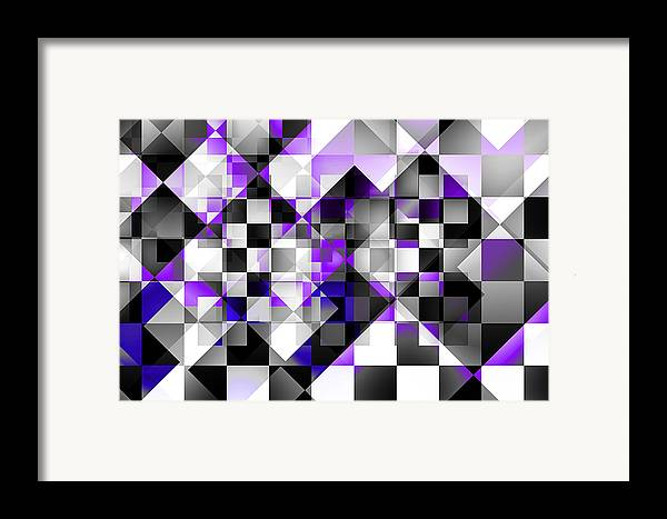 Abstract Framed Print featuring the digital art Indigo Facets by Gae Helton