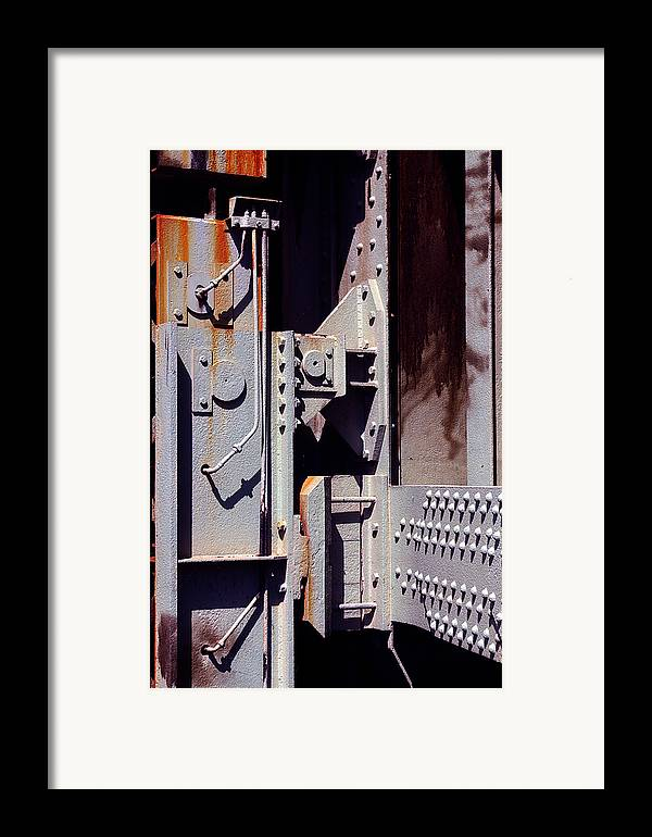 Abstract Framed Print featuring the photograph Industrial Background by Carlos Caetano