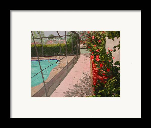 Landscape Framed Print featuring the painting Jeanie by Sodi Griffin