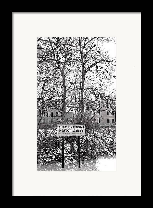 John Quincy Adams Framed Print featuring the photograph John Quincy Adams House Ll by Heather Weikel