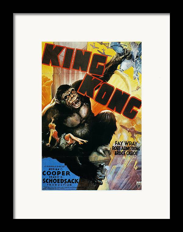 1933 Framed Print featuring the photograph King Kong Poster, 1933 by Granger