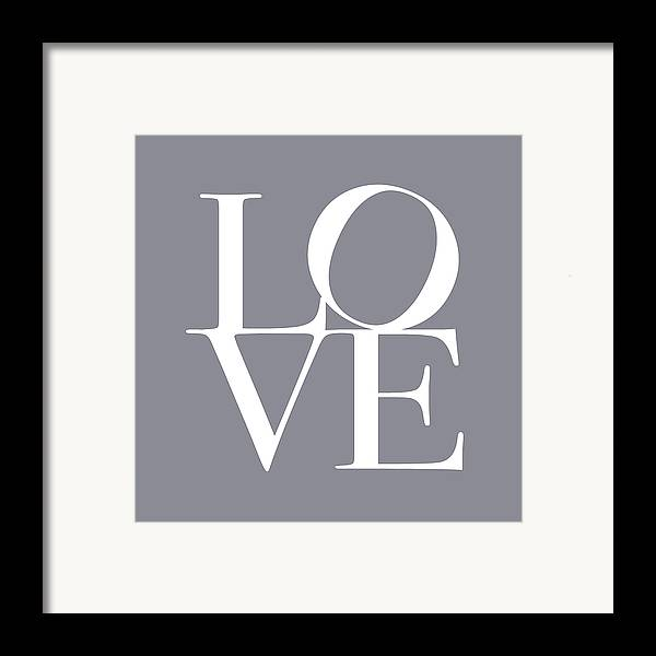 Love Framed Print featuring the digital art Love In Grey by Michael Tompsett