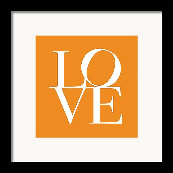 Love Framed Print featuring the digital art Love In Orange by Michael Tompsett