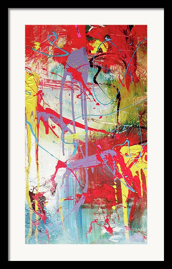 Abstract Landscape Framed Print featuring the painting Love In Space by Robert Daniels