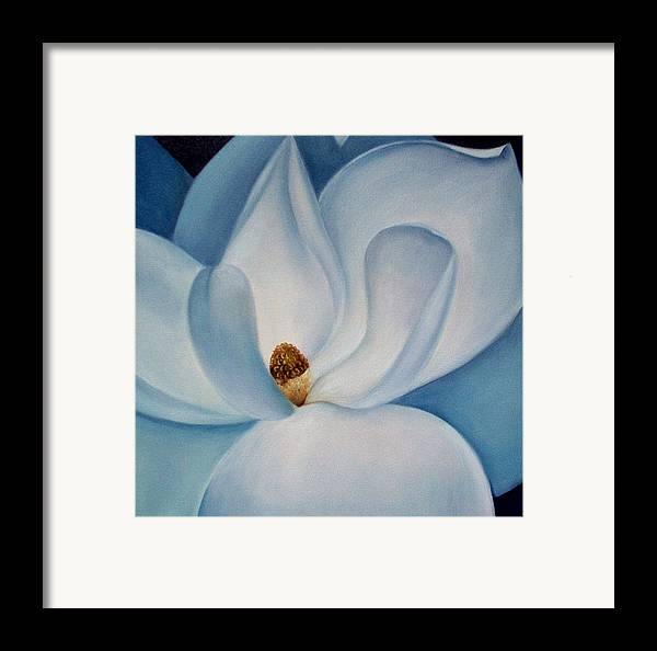 Flowers Framed Print featuring the painting Magnolia by Elsa Gallegos