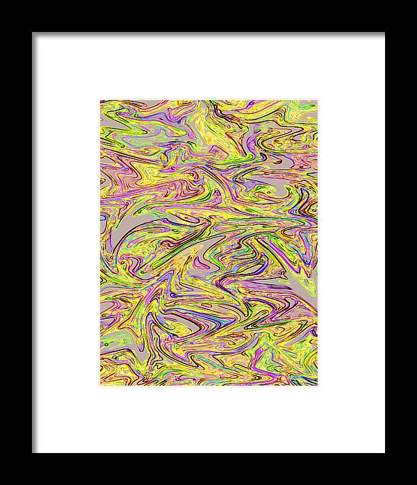 Marbled Pattern Framed Print featuring the digital art Marbled Pattern by Hema Rana